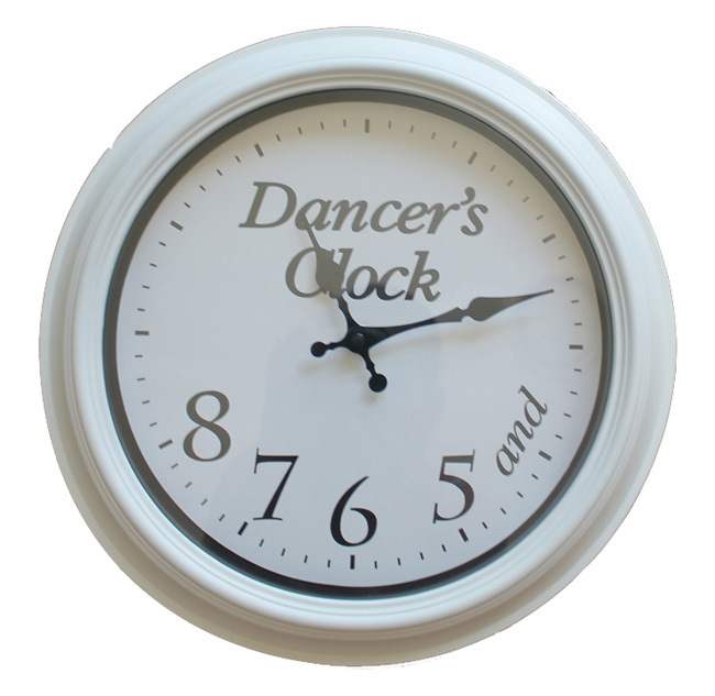 Dancers-Clock-White