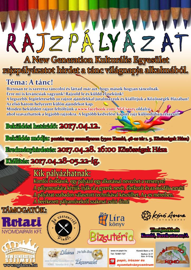 Rajzpályázat plakát 2017