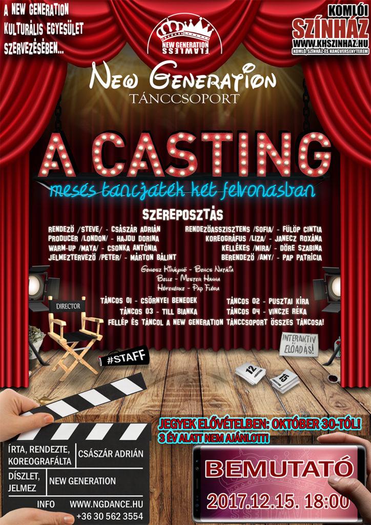 A Casting plakát honlapra