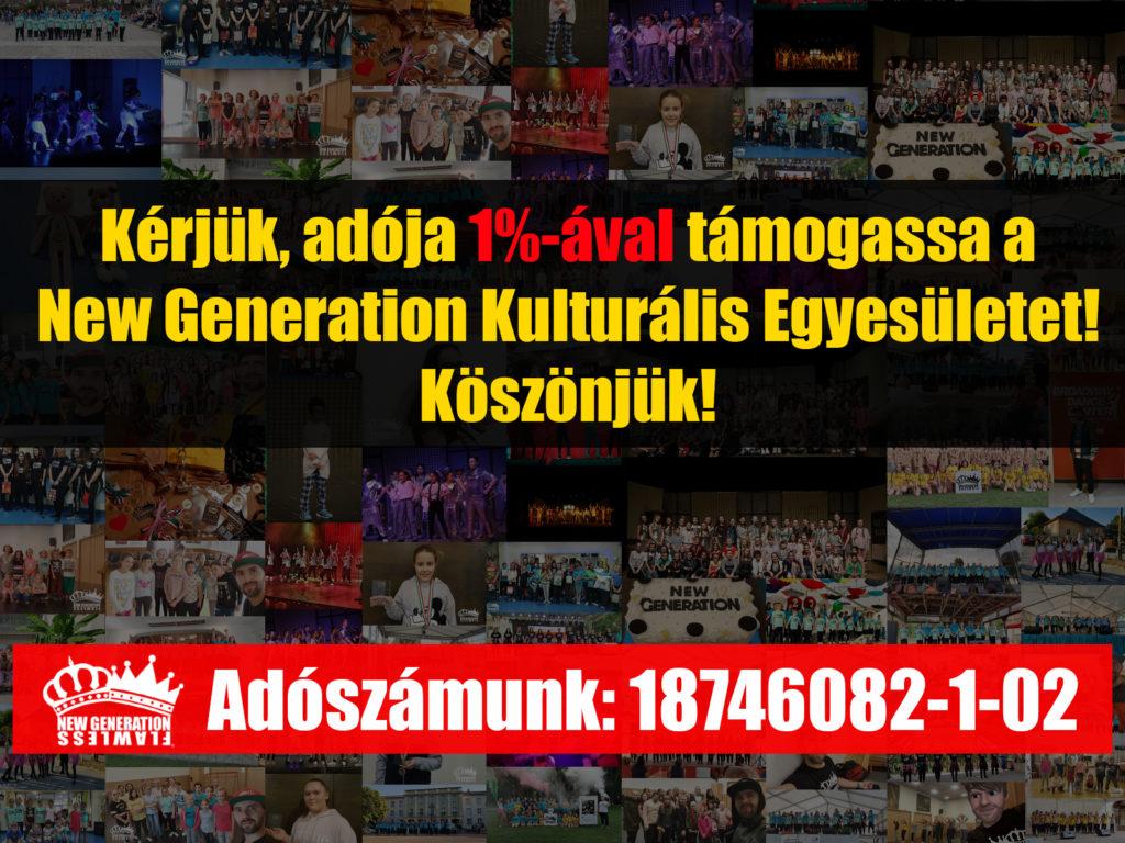 New Generation Kulturális Egyesület - Adó 1% instagram